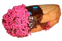 Jelly finger w/pink sprinkles